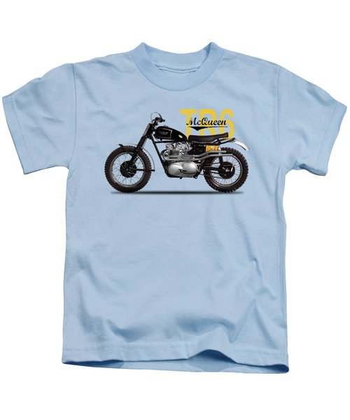Steve Mcqueen Desert Racer Kids T-Shirt by Mark Rogan