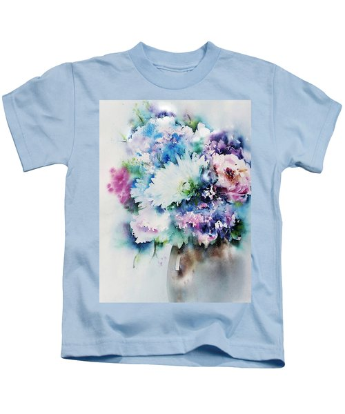 Still Life Rose Bouquet Watercolour Kids T-Shirt