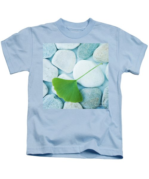 Stones And A Gingko Leaf Kids T-Shirt