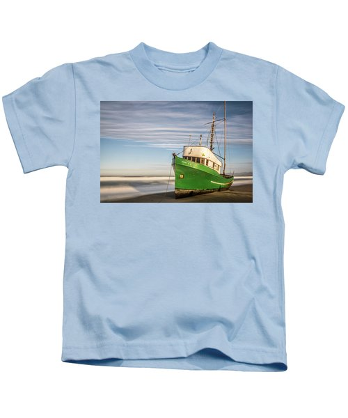 Stranded On The Beach Kids T-Shirt