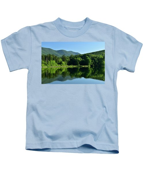 Streak Of Light At The Lake Kids T-Shirt