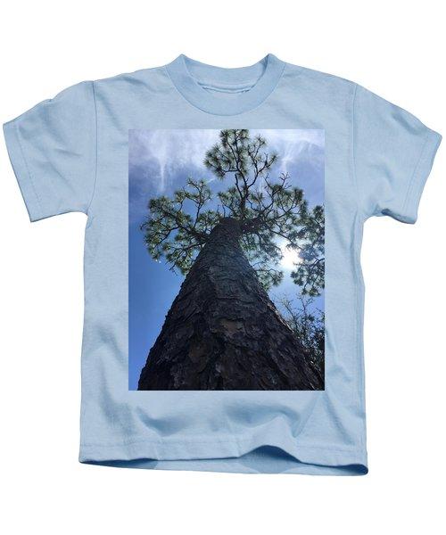 Stretching At Eagle Lake Park Kids T-Shirt