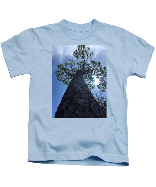 Stretching At Eagle Lake Park Kids T-Shirt