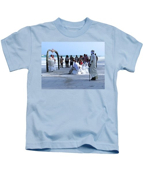 Stunning Kenya Beach Wedding Kids T-Shirt