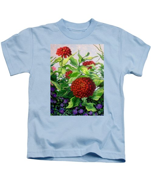Summer Flowers 3 Kids T-Shirt