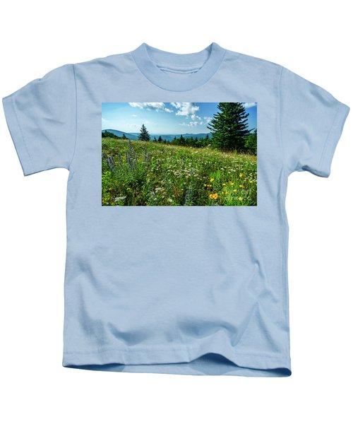 Summer Flowers In The Highlands Kids T-Shirt