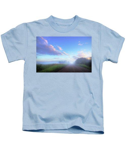 Summer Morning In Alberta Kids T-Shirt