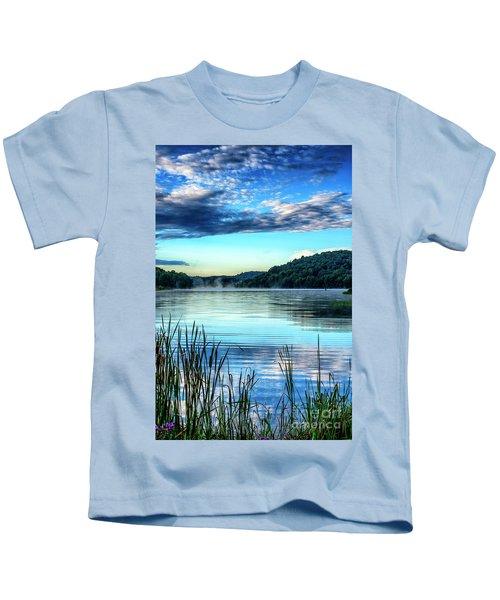 Summer Morning On The Lake Kids T-Shirt