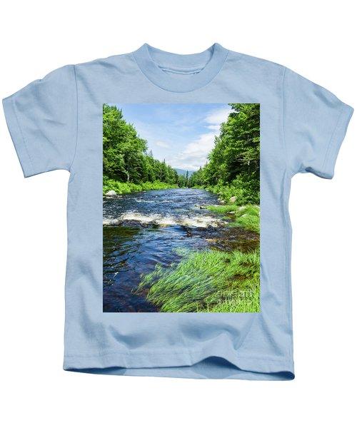 Summer Scene Rangeley Maine  -70742 Kids T-Shirt