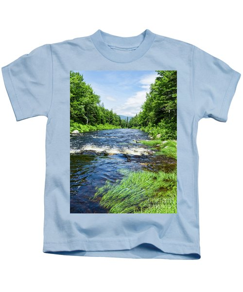Summer Scene Rangeley Maine  -70742 Kids T-Shirt