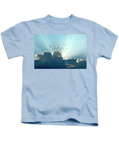 Sun Ray Aerobatics Blue Sky Kids T-Shirt