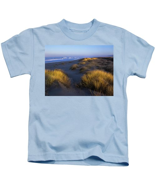 Sunlight On The Beach Grass Kids T-Shirt