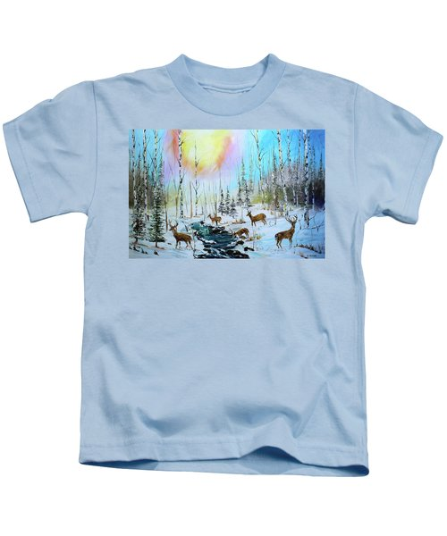 Sunny Winter Kids T-Shirt