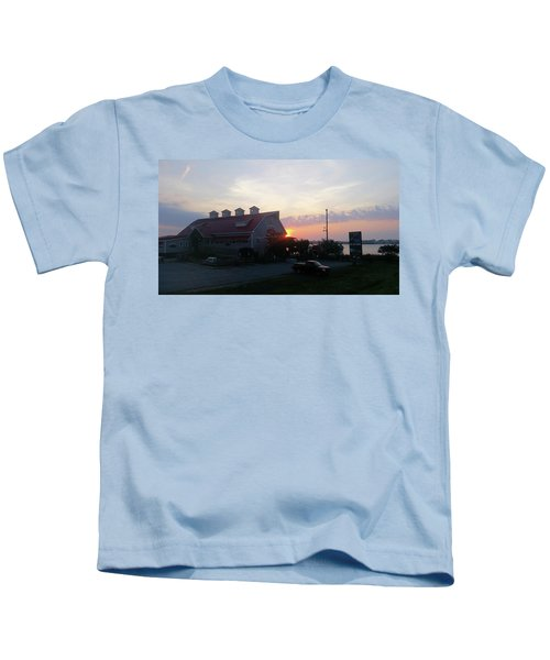Sunrise At Hooper's Crab House Kids T-Shirt