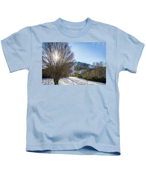 Sunrise Over Cataloochee Ski Kids T-Shirt