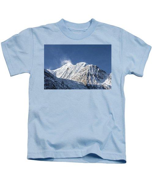 Sunrise Over The Gangapurna Peak At 7545m In The Himalayas In Ne Kids T-Shirt