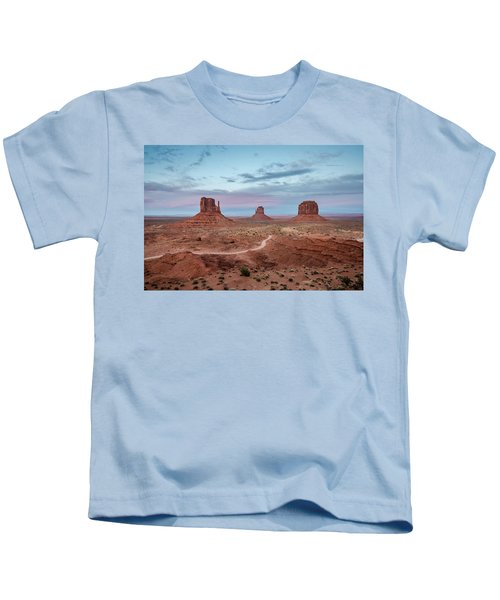 Sunset At Monument Valley No.1 Kids T-Shirt