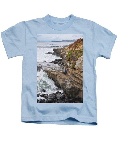 Sunset Cliffs San Diego Portrait Kids T-Shirt