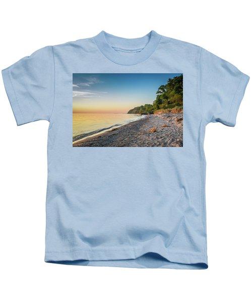 Sunset Glow Over Lake Kids T-Shirt
