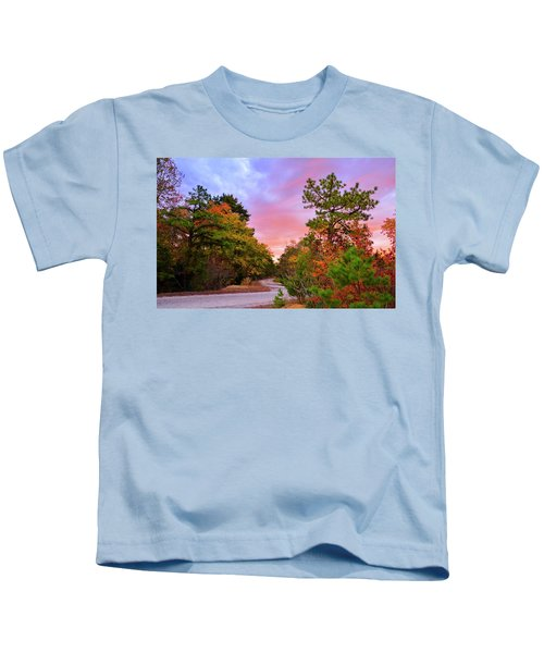 Sunset On Bombing Run Road Kids T-Shirt