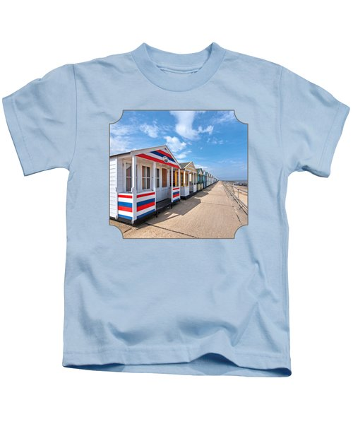 Surf's Up - Colorful Beach Huts - Square Kids T-Shirt