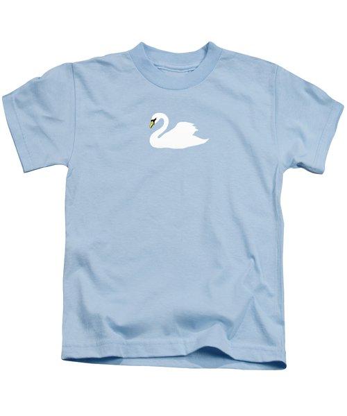 Swan Spring Kids T-Shirt by Priscilla Wolfe