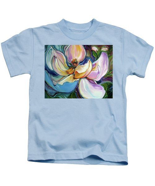Sweet Magnoli Floral Abstract Kids T-Shirt