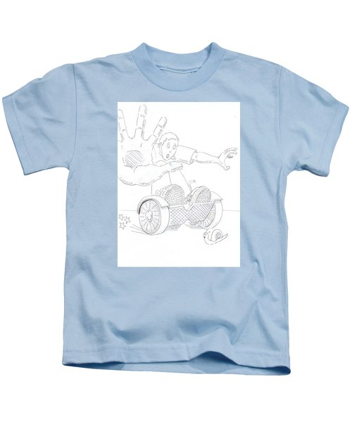Swegway Hoverboard Emergency Stop Cartoon Kids T-Shirt