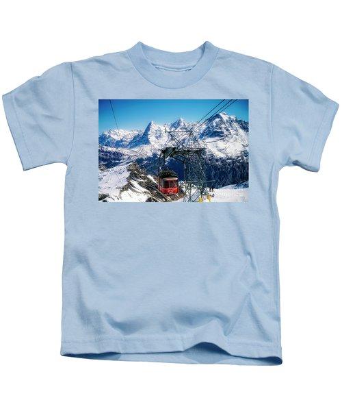 Switzerland Alps Schilthorn Bahn Cable Car  Kids T-Shirt