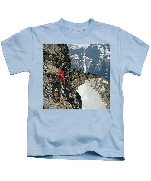 T-04403 Walt Buck Sellers On First Ascent Of Mt. Torment Kids T-Shirt