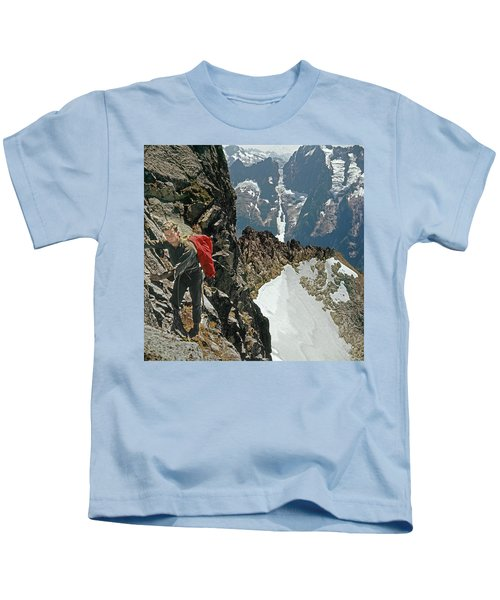 T-04403 Walt Buck Sellers On First Ascent Of Mt. Torment Kids T-Shirt