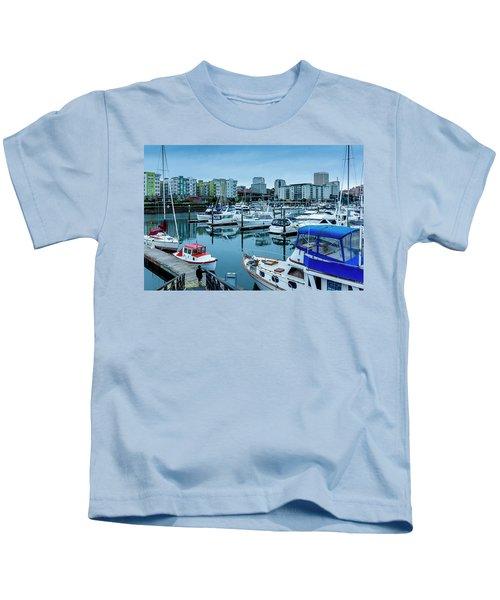 Tacoma Waterfront Marina,washington Kids T-Shirt