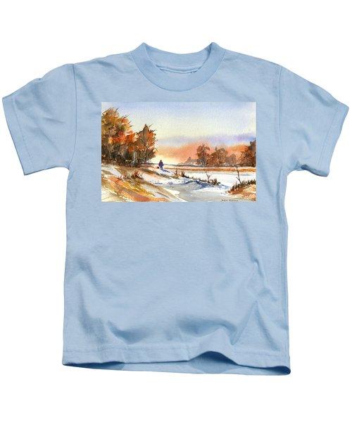 Taking A Walk Kids T-Shirt