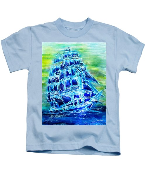 Tallship Alcohol Inks Kids T-Shirt