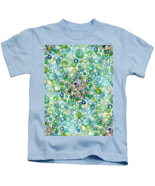 Teal And Olive Concavity Kids T-Shirt