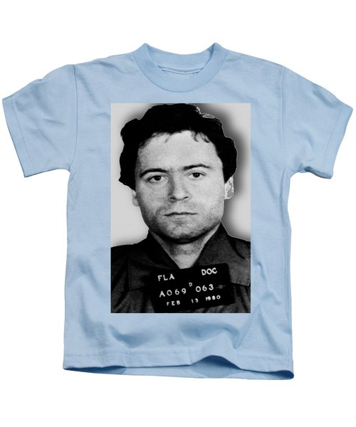 Ted Bundy Mug Shot 1980 Vertical  Kids T-Shirt
