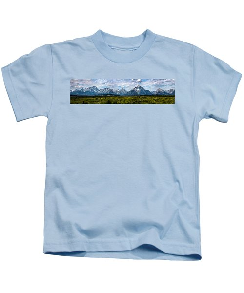 Tetons - Panorama Kids T-Shirt