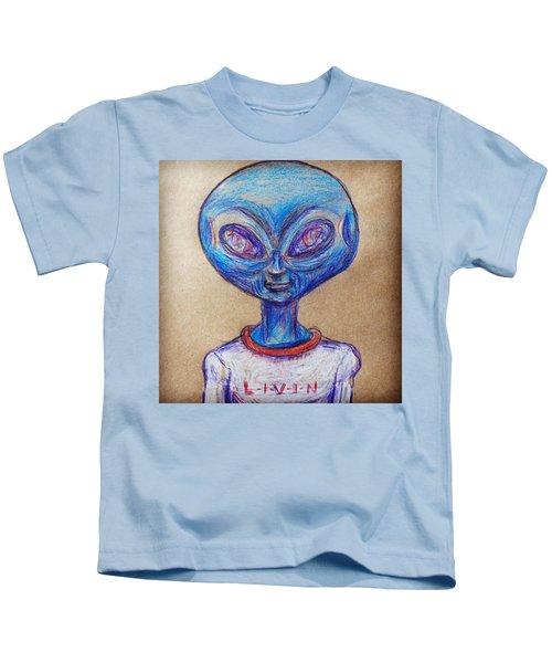 The Alien Is L-i-v-i-n Kids T-Shirt