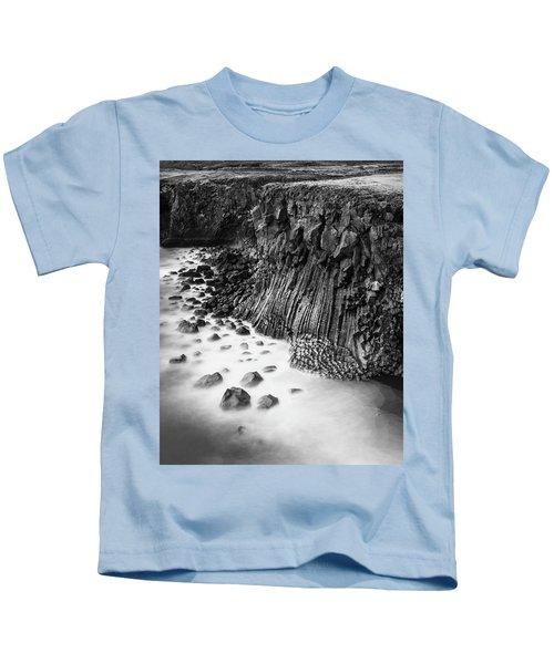 The Basalt Cliff Of Arnarstapi Kids T-Shirt