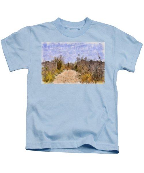 The Beach Awaits Kids T-Shirt