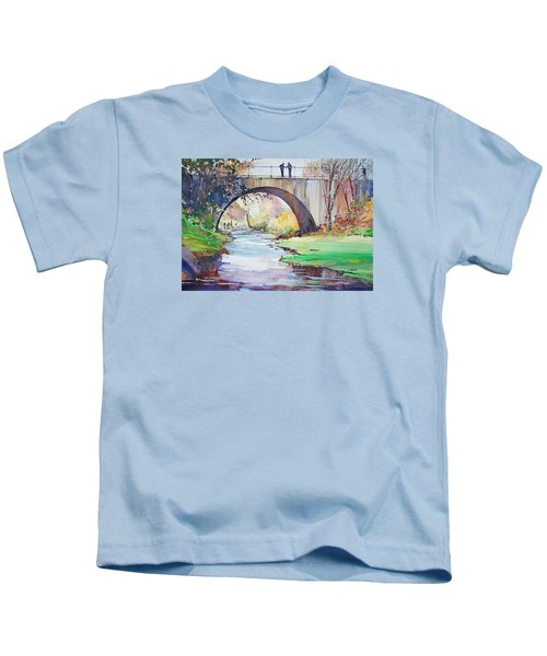 The Bridge Over Brewster Garden Kids T-Shirt