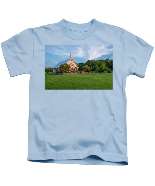 The Brooks At Weatherford Wedding Chapel Kids T-Shirt
