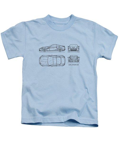 The California Blueprint - White Kids T-Shirt