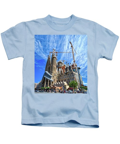 The Expiatory Temple Of The Holy Family Kids T-Shirt