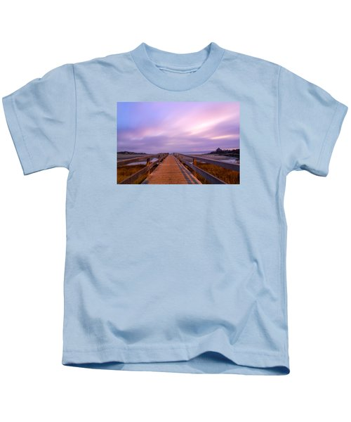 The Footbridge Good Harbor Beach Kids T-Shirt