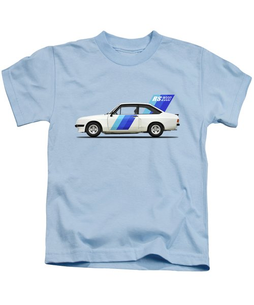 The Ford Escort Rs2000 Kids T-Shirt by Mark Rogan