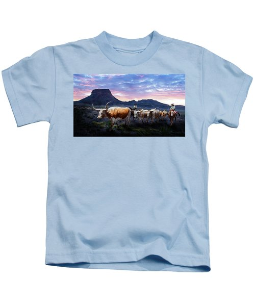 Texas Longhorns Blue Kids T-Shirt