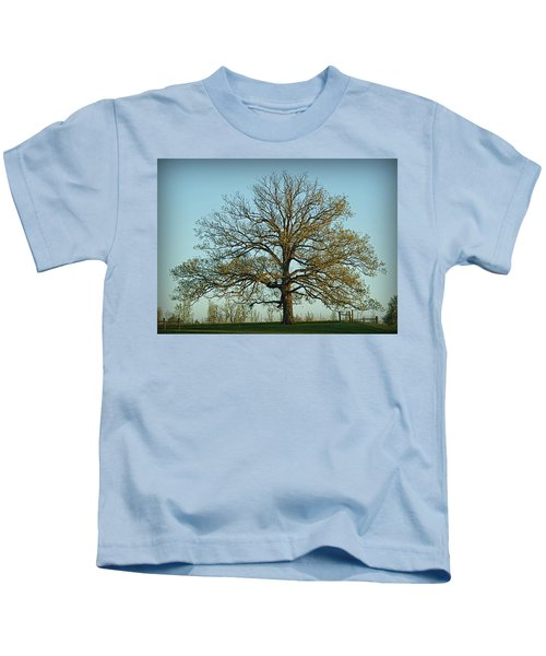 The Mighty Oak In Spring Kids T-Shirt