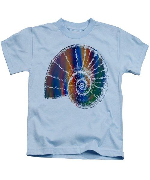 The Nautilus Shell Transparent 2 Kids T-Shirt