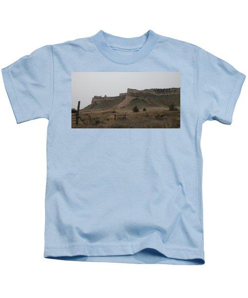 The Oregon Trail Scotts Bluff Nebraska Kids T-Shirt